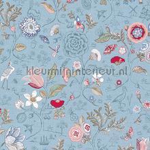 PiP Spring to Life Light Blue behang Eijffinger Pip Wallpaper IV 375005