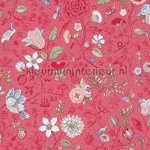 PiP Spring to Life Red Pink behang Eijffinger Pip Wallpaper IV 375004