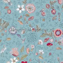 PiP Spring to Life Sea Blue behang Eijffinger Pip Wallpaper IV 375003