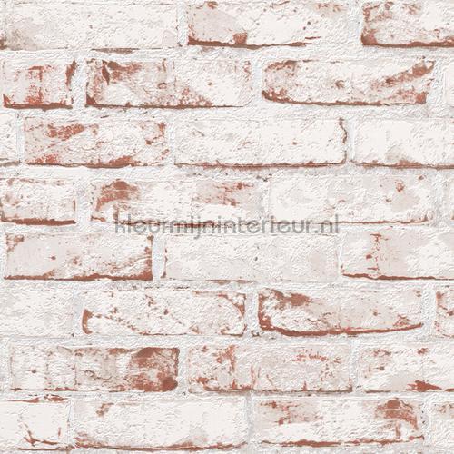 Oude bakstenen muur 3D relief sticker lámina adhesiva 955701 Room set photo's AS Creation