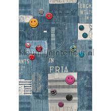 Smiley jeans sticker interieurstickers AS Creation meisjes