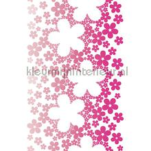 Flower power XL sticker wallstickers AS Creation vindue stickers