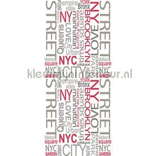 Ny street XL sticker wallstickers AS Creation vindue stickers