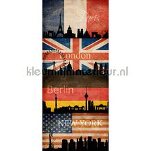 Flags united interieurstickers AS Creation abstract modern
