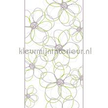 Spiral flowers decoration stickers AS Creation window stickers