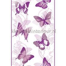 Purple butterflies interieurstickers AS Creation dieren