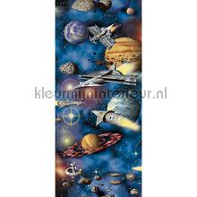 Spaceships and planets interieurstickers AS Creation jongens