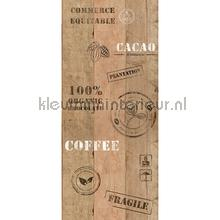 Koffie kistje XL sticker wallstickers AS Creation vindue stickers