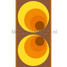 Retro brown&orange XL sticker wallstickers AS Creation vindue stickers