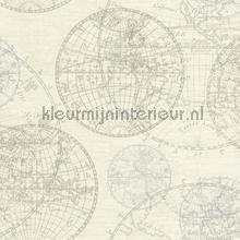 Globe behang tapet Rasch Vintage Gamle