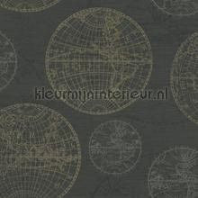 Globe behang Rasch Portobello 289458