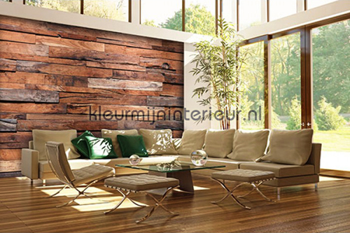 Wooden Wall fotobehang 00150 aanbieding fotobehang Ideal Decor