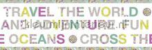 Wereld rand behang Caselio meisjes