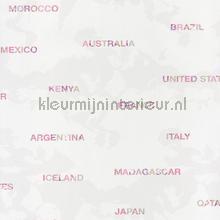 Landen behang roze Caselio meisjes