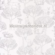 Hertjes in het bos zilver carta da parati Caselio Pretty Lili 69229093