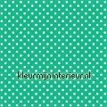 Stippen - turquoise wit tapet Esta home Pretty Nostalgic 138104