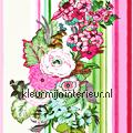 Bloemen & strepen - roze/groen tapet Esta home Pretty Nostalgic 138115