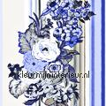 Bloemen & strepen - blauw tapet Esta home Pretty Nostalgic 138116