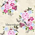 Bloemen vintage - lichtroze wallcovering Esta home Vintage- Old wallpaper