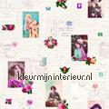 Memories - roze/blauw tapeten Esta home Trendy