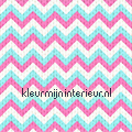 Strepen met breisel - roze/blauw tapet Esta home Pretty Nostalgic 138136
