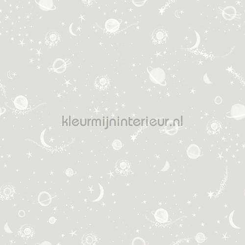 Sterren en planeten grijs behang 27119 Baby - Peuter Behang Expresse