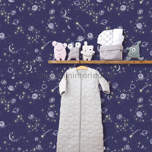 Sterren en planeten mint behang 27118 Baby - Peuter Behang Expresse