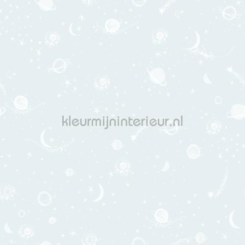 Sterren en planeten blauw behang 27121 Baby - Peuter Behang Expresse