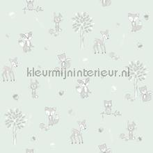 Dierenbos mint wallcovering Behang Expresse Puck and Rose 27122