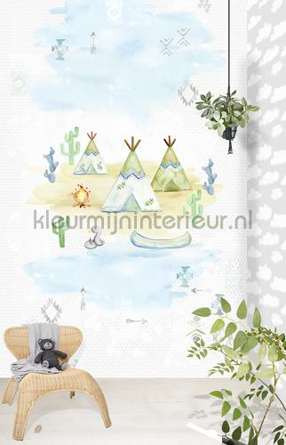 Fotobehang wigwams fotomurales ink7006 Puck and Rose Behang Expresse