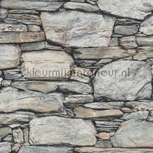 Stacked stones grey tapet Dutch Wallcoverings Reclaimed FD22304