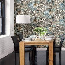 Old tiles coloured behang Dutch Wallcoverings Reclaimed FD22315