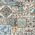 Old tiles coloured Interieurvoorbeelden behang inspiratie