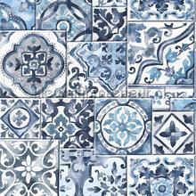 Oude tegels dutch blue carta da parati Dutch Wallcoverings Reclaimed FD22316
