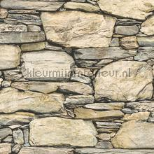 Stacked stones beige grey behang Dutch Wallcoverings Reclaimed FD22317