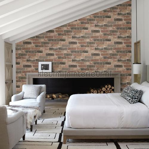 Bricks behang FD22320 Interieurvoorbeelden behang Dutch Wallcoverings