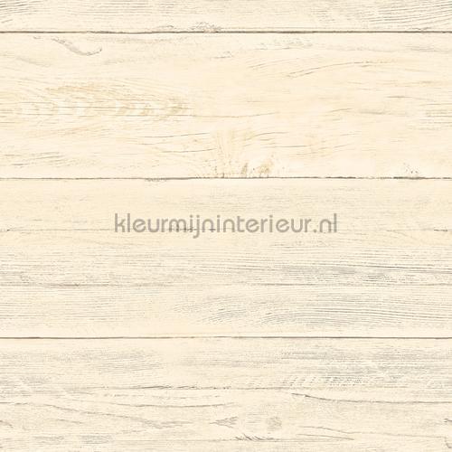 Soft cloured wooden planks tapet FD22324 Reclaimed Dutch Wallcoverings