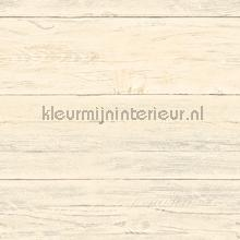 Soft cloured wooden planks behang Dutch Wallcoverings Reclaimed FD22324