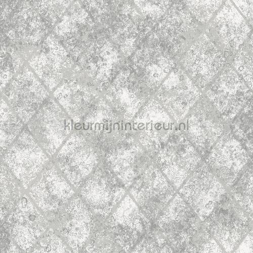 Metallic grid grey tapet FD22326 Reclaimed Dutch Wallcoverings