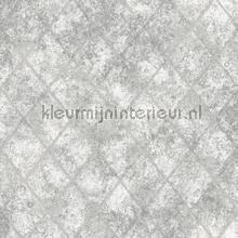Metallic grid grey carta da parati Dutch Wallcoverings Reclaimed FD22326