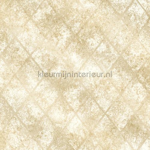 Metallic grid beige tapet FD22327 Reclaimed Dutch Wallcoverings
