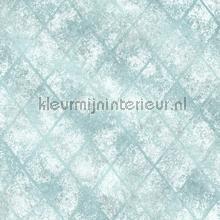 Metallic grid blue carta da parati Dutch Wallcoverings Reclaimed FD22328