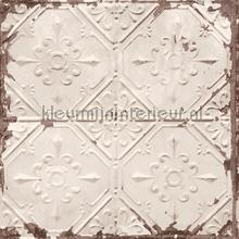 Old tin ceilingtiles carta da parati Dutch Wallcoverings Reclaimed FD22332