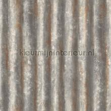 Corrugated iron grey papier peint Dutch Wallcoverings Reclaimed FD22333