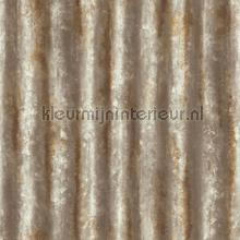 Corrugated iron brownish grey papier peint Dutch Wallcoverings Reclaimed FD22334