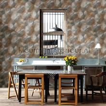 Zonnedesign metaalplaat behang Dutch Wallcoverings Industrieel