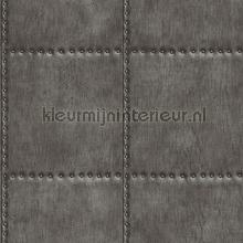 Metal plate with nails darkgrey behang Dutch Wallcoverings Reclaimed FD22342