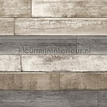 Horizontal wood greyish brown tapet FD22345 Reclaimed Dutch Wallcoverings