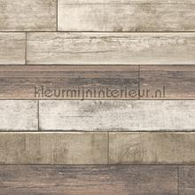 Horizontal wood soft brown behang Dutch Wallcoverings Reclaimed FD22347