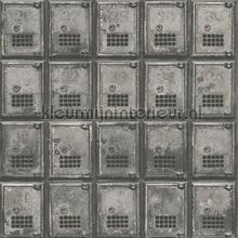 Lockers grey carta da parati Dutch Wallcoverings Reclaimed FD22355